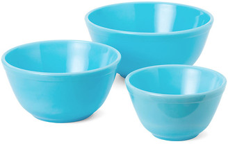 Mosser Glass Asst. of 3 Comely Mixing Bowls - Robins Egg robin's-egg blue