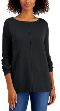 Style&Co. Style & Co Petite Seam-Front Sweater, Created for Macy's