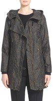 Belstaff 'Habledon' Panther Print Hooded Waxed Cotton Parka