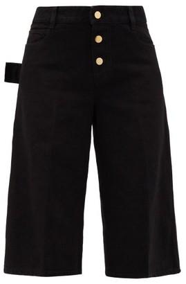 Bottega Veneta High-rise Denim Shorts - Black