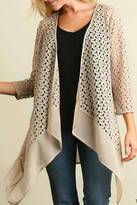 Umgee USA Natural Colored Cardi