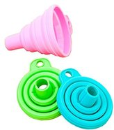 Kitchen Tool Gadget, ZTY66 1PC Silicone Gel Practical Collapsible Foldable Funnel Hopper
