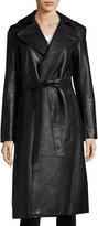 Robert Rodriguez Leather Trench Coat, Black