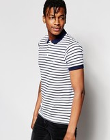 French Connection Fine Stripe Polo Shirt