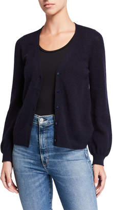 Majestic Filatures Cashmere Button-Front Balloon-Sleeve Cardigan