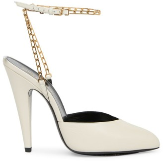 Saint Laurent Kika Chain Leather Pumps