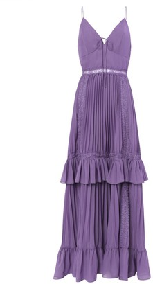 True Decadence Dusty Purple Pleated Maxi Dress