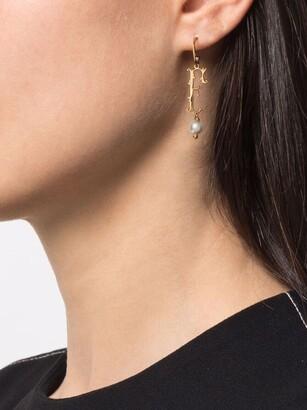 Simone Rocha pearl-embellished F letter single earring