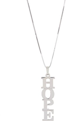 Melanie Marie Silver Linear Word Pendant Necklace