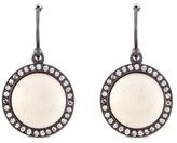 Monique Péan 'Fossilized Woolly Mammoth' diamond 18k white gold disc drop earrings