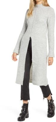 Vero Moda Gaiva Slit Front Long Sleeve Midi Sweater Dress