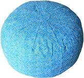 Oliver B Pouf- Turquoise Herringbone-Turquoise