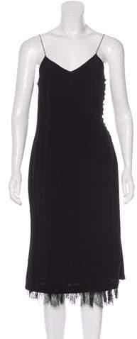 Chloé Lace-Trimmed Slip Dress