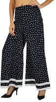 Amoghah Bird Cotton Palazzo Womens Wear Elastic Waist Wide Leg Custom Pants