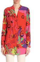 Etro Graffiti Silk Blouse