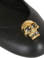 Alexander McQueen 10mm Calfskin Skull Ballerina Flats