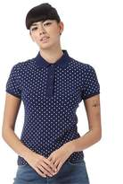 Fred Perry Womens Polka Dot Pique Shirt French Navy