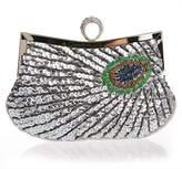 Myleas Women's Folk Style Beaded Peacock Wallet Party Evening Wedding Cocktail Handbag Clutch Bag