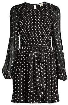 Shoshanna Women's Walker Dotted Tie-Waist Dress - Size 0