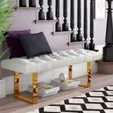 Everly Quinn Briarwood Upholstered Bench Upholstery