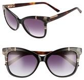 Ted Baker Women's 55Mm Square Cat Eye Sunglasses - Black