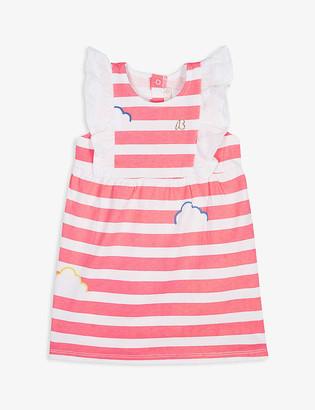 Billieblush Striped ruffled cotton dress 3-36 months