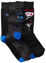 Tommy Bahama Fin & Tonic Crew Socks - Pack of 4