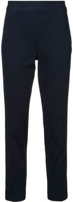 Josie Natori Cropped Straight-Leg Trousers