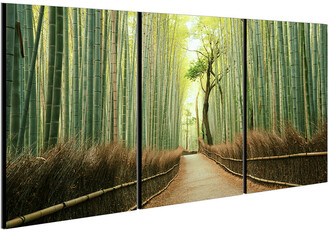 Chic Home Design Pine Road 3Pc Set Wrapped Canvas Wall Art