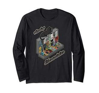 Cat on Analog Modular Synth Funny synthesizer Long Sleeve T-Shirt