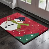 Crate & Barrel Snow Day 2'x3' Snowman Rug