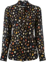 Alexander McQueen 'Obsession' print blouse - women - Silk - 40