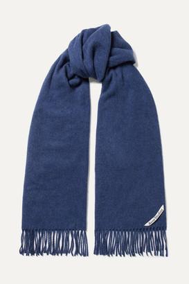 Acne Studios Canada Narrow Fringed Wool Scarf - Blue