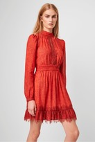 French Connection Dayo Drape Lace Print Dress