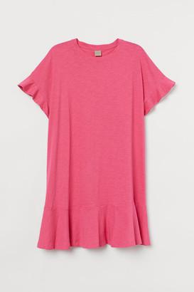 H&M H&M+ Jersey T-shirt Dress - Pink