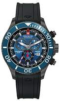 Swiss Military Men's Quartz Watch with Blue Dial Chronograph Display and Black Silicone Strap 6-4226.30.003
