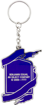 Benjamin Edgar SSENSE Exclusive Blue and White Bleed 6 Colors Keychain