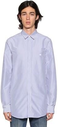 Balenciaga Fitted Long Striped Poplin Shirt