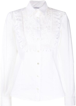 P.A.R.O.S.H. Frilled Lace-Detail Blouse