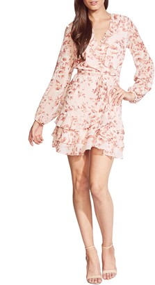 Bardot Triple Frill Long Sleeve Chiffon Minidress