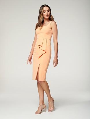 Forever New Emily Square-Neck Midi Dress - Orange - 10