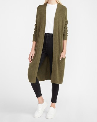 Express Cozy Long Pocket Cardigan