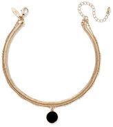 New York & Co. Circular Pendant Choker Necklace