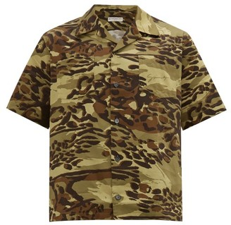 Givenchy Rare-patch Camouflage-print Cotton Shirt - Green Multi