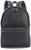 Michael Kors Bryant Pebble Leather Studded Backpack Black