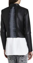 BCBGMAXAZRIA Lloyd Bonded Faux-Leather Jacket