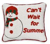 Sudha Pennathur Beaded Velvet Snowman Decorative Pillow