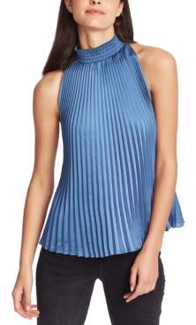 1 STATE 1.State 1.state Pleated Halter-Neck Blouse