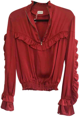 Magda Butrym Red Silk Tops