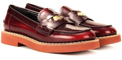 Miu Miu Leather penny loafers